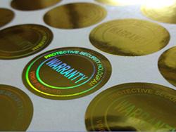 Etiquetas Holográficas personalizadas